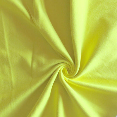Yellow Cotton Heavy Rib Knit Fabric