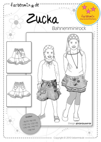 Zucka Mini Skirt Sewing Pattern by Farbenmix