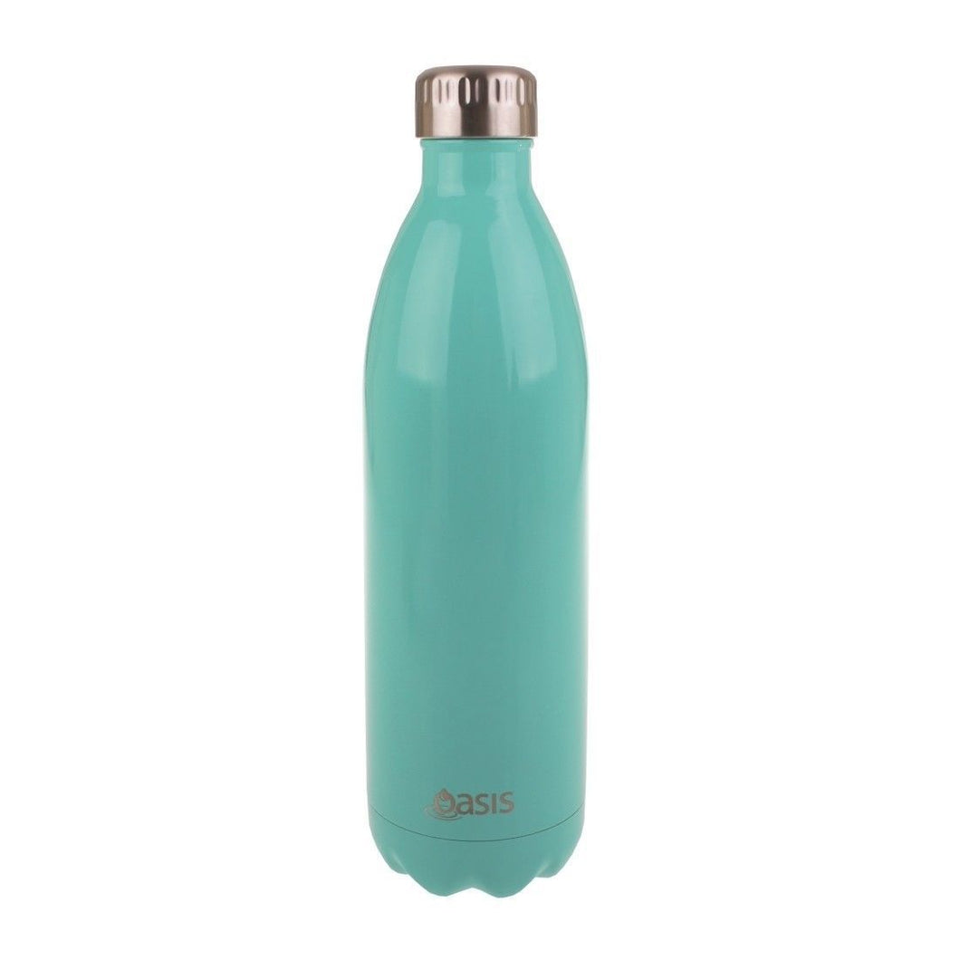 Oasis Stainless Steel Double Wall Insulated Water Bottle 1 Litre Spearmint