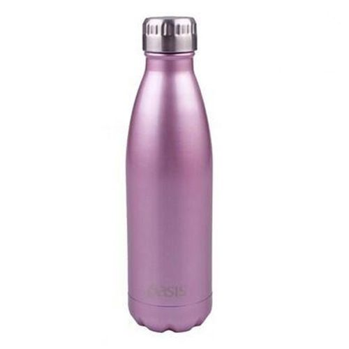 D.Line Oasis Stainless Steel Double Wall Insulated Water Bottle 500ml Blush