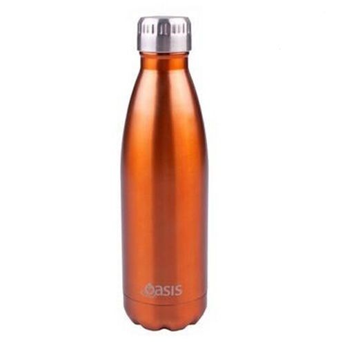 D.Line Oasis Stainless Steel Double Wall Insulated Water Bottle 500ml Copper
