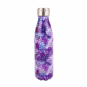 D.Line Oasis Stainless Steel Double Wall Insulated Water Bottle 500ml Dragon Scales