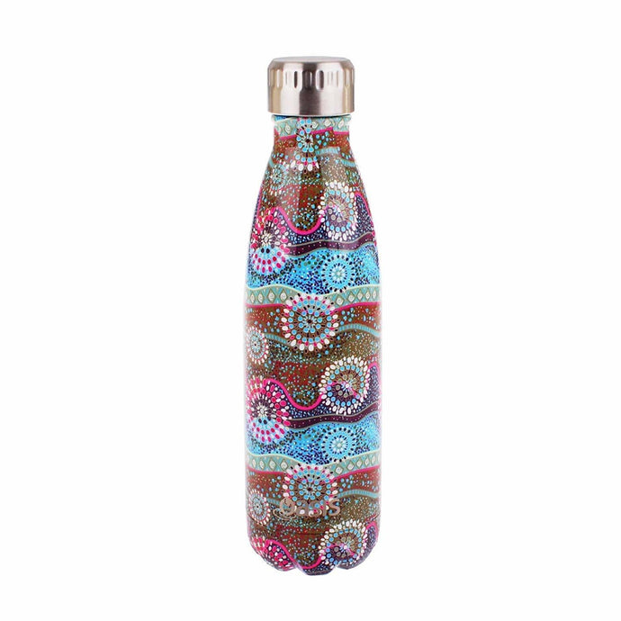 D.Line Oasis Stainless Steel Double Wall Insulated Water Bottle 500ml Dreamtime