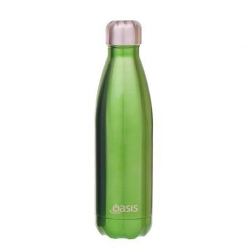 D.Line Oasis Stainless Steel Double Wall Insulated Water Bottle 750ml Green