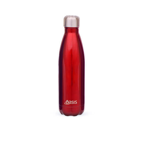 D.Line Oasis Stainless Steel Double Wall Insulated Water Bottle 750ml Red
