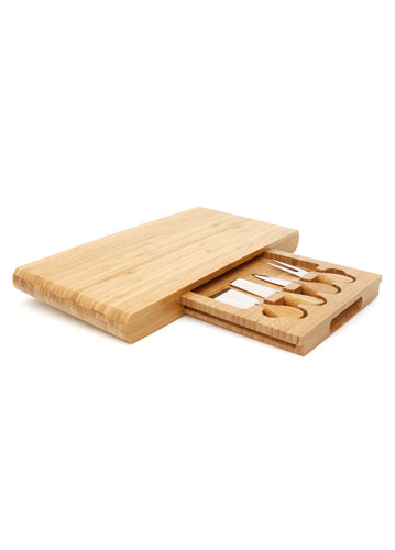 Stanley Rogers Bamboo 5 Piece Cheese Board Set