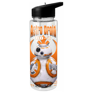 Licensed Star Wars Tritan Sports Drink Bottle 750ml - BB8 Astro Droid - BPA Free