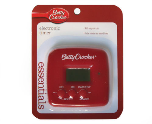Betty Crocker Electronic Kitchen Timer - Red