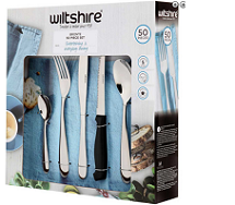 Wiltshire Bronte 50 Piece Stainless Steel Classic Cutlery Set
