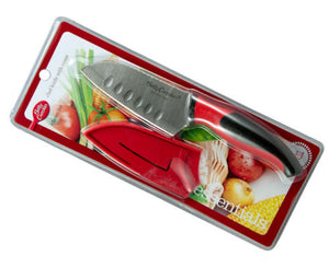 Betty Crocker Scalloped Chef Knife 12cm - Stainless Steel - With Cover