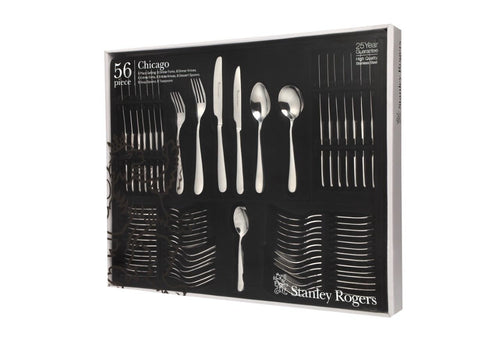 Stanley Rogers Chicago 56 Piece Stainless Steel Cutlery Set
