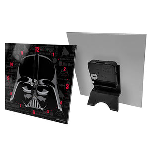 Licensed Star Wars Mini Analogue Glass Desk Mantle Clock - Darth Vader