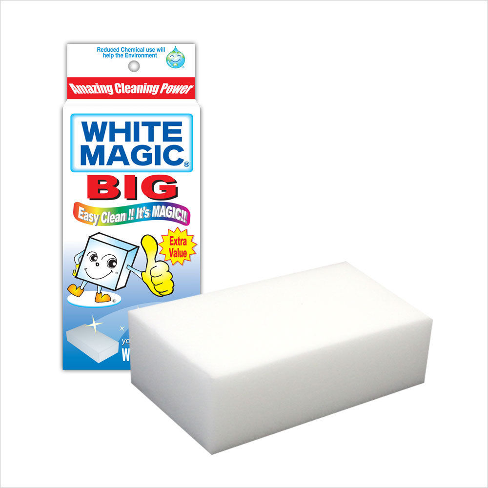 White Magic Eraser Sponge - Original - x 4 Blocks - 18cm x 9cm