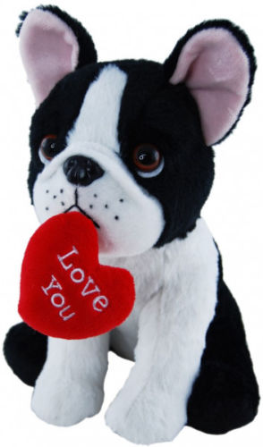 Elka French Bulldog with Heart - 20cm