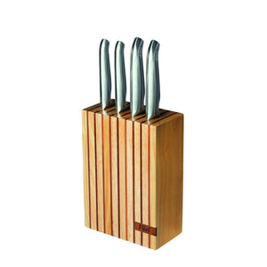 Furi Pro 5 Piece Wood Knife Block Set