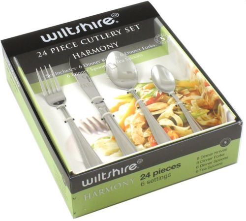 Wiltshire Harmony 24 Piece Stainless Steel Cutlery Set