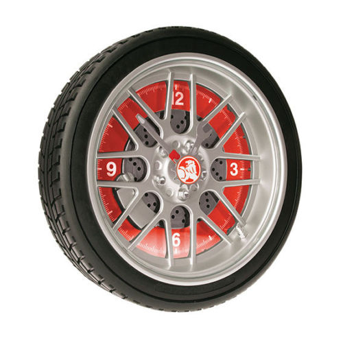 Licensed Holden LED Tyre Wall Clock - Red