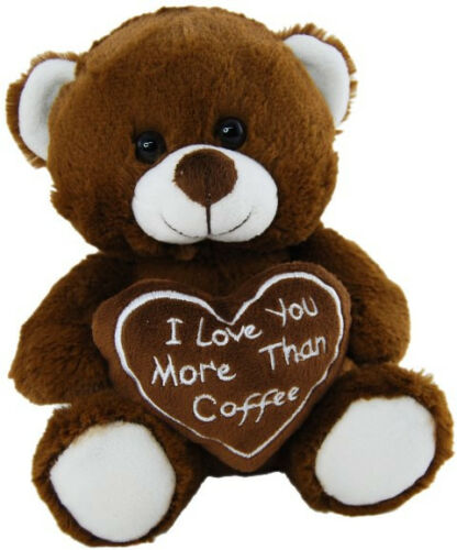 Elka Bear 20cm - I Love You More Than Coffee - Valentines Day - BNWT