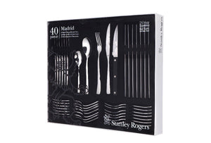 Stanley Rogers Madrid 40 Piece Stainless Steel Cutlery Set - Incl Steak Knives