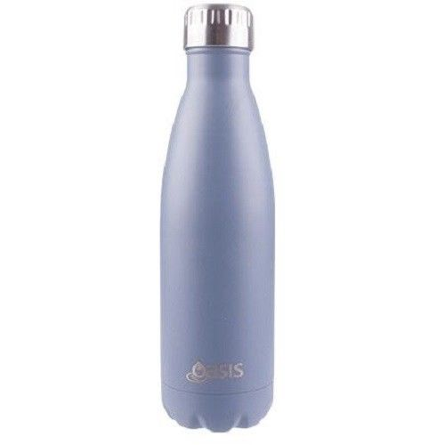 D.Line Oasis Stainless Steel Double Wall Insulated Water Bottle 500ml Matte Grey
