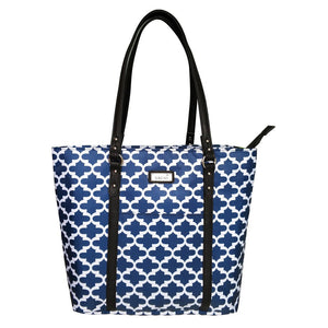 Sachi Two Tote Duel Compartment Insulated Lunch Tote Bag - Moroccan Navy
