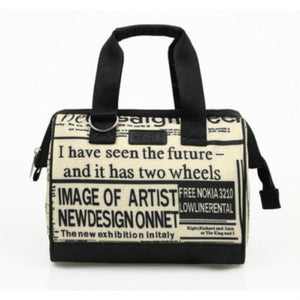 Sachi Insulated 34 Lunch Bag - Newspaper Print