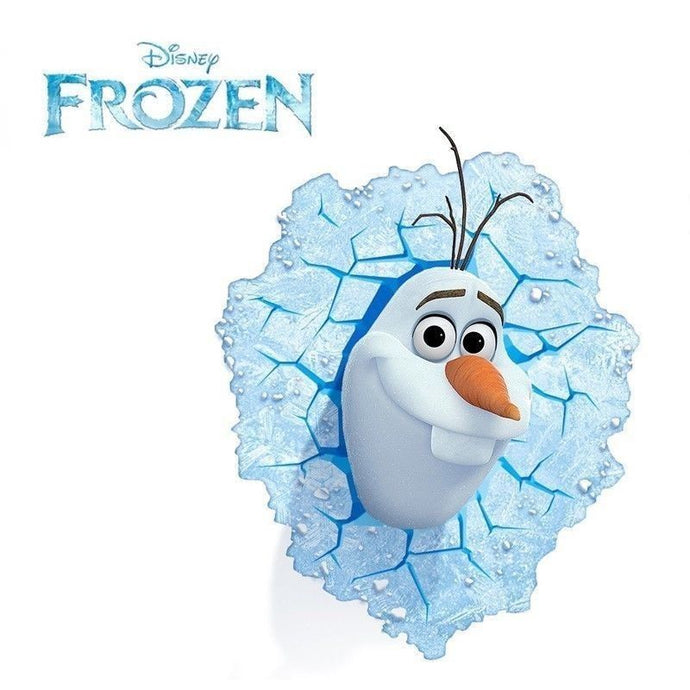 Disney Frozen Olaf The Snow Man 3D Deco Light - Wall Night LED Lamp for Kids