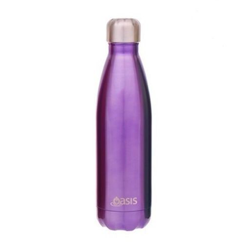 D.Line Oasis Stainless Steel Double Wall Insulated Water Bottle 750ml Purple