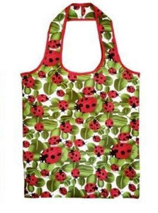 Sachi Reusable Shopping Bag - Lady Bug - Fold up for Convenient Storage