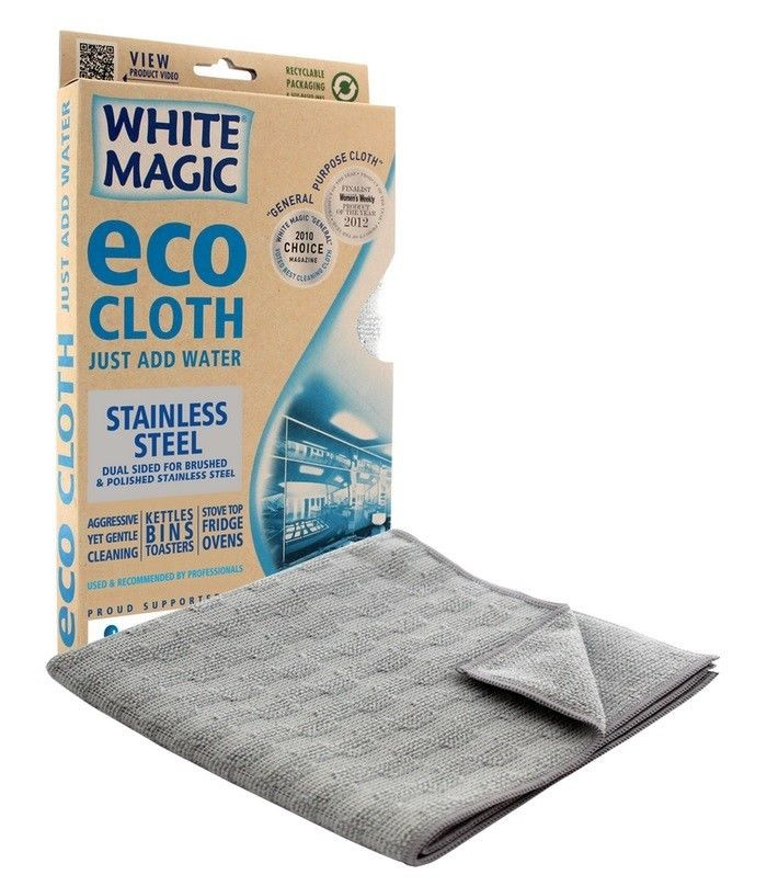 White Magic Microfibre Eco Cloth Stainless Steel - 32cm x 32cm