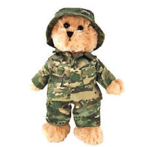Tic Toc Teddies -  Army Teddy Bear - 30cm