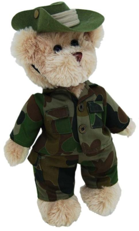 Tic Toc Teddies - Australian Army Uniform Teddy Bear - 30cm