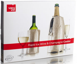 Vacu Vin Active Wine and Champagne Rapid Ice Cooler Set - Platinum