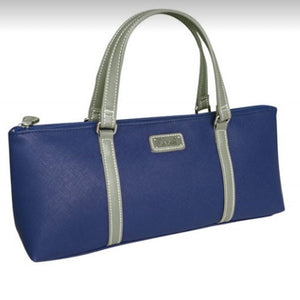 Sachi Wine Purse Cooler Tote Bag - Navy Blue