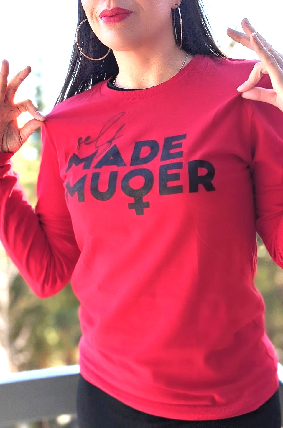 Self Made Mujer Long Sleeve in Red