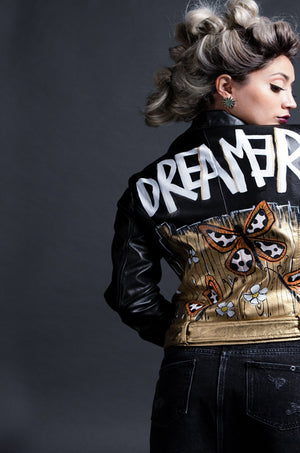 Dreamer Vegan Black Leather Jacket