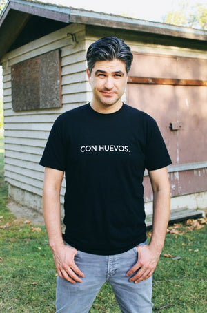 Con Huevos. Men's Black T Shirt (Bundle it and save)