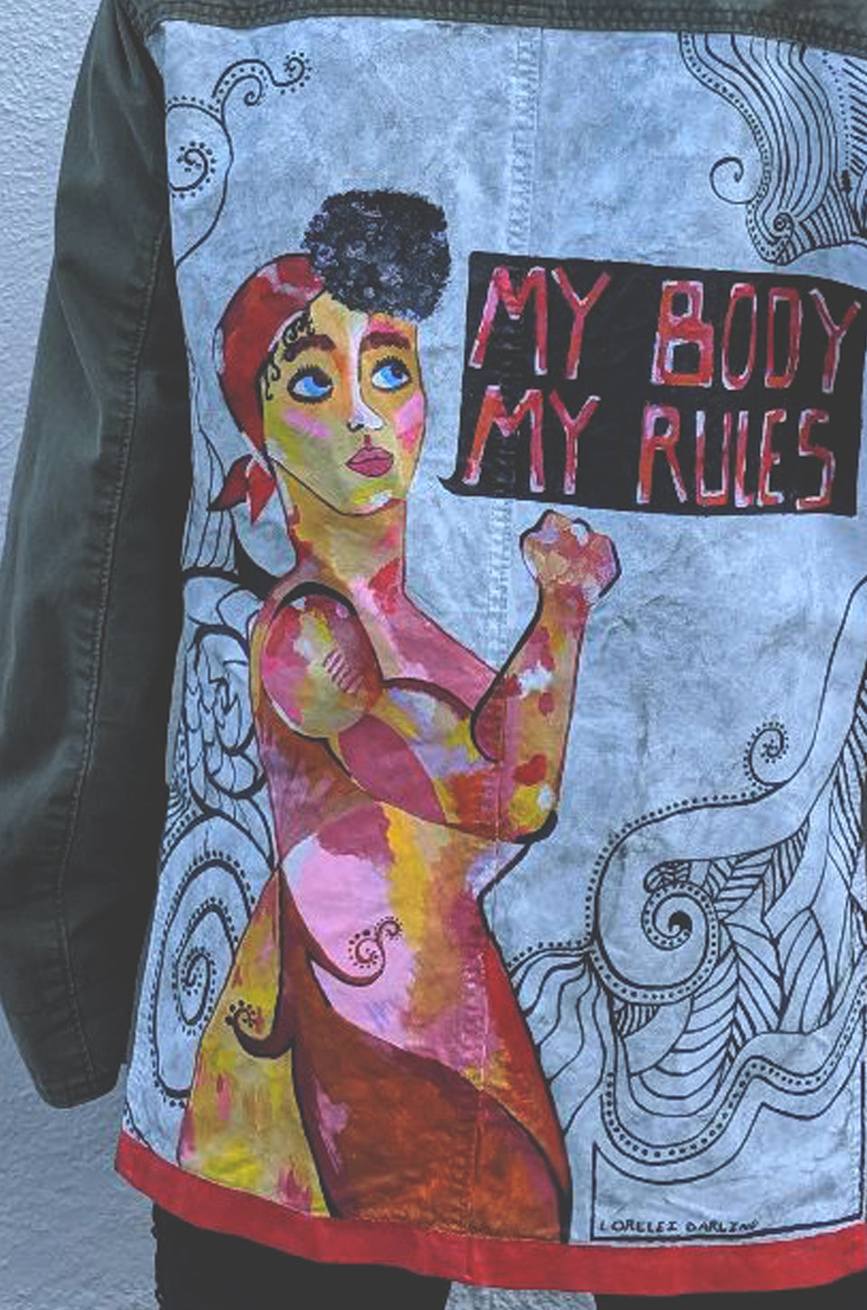 My Body My Rules Army Jacket