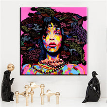 Load image into Gallery viewer, Abstract Modern African Women Canvas Oil Painting Wall Art