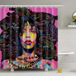 Big Hair Afro Shower Curtain