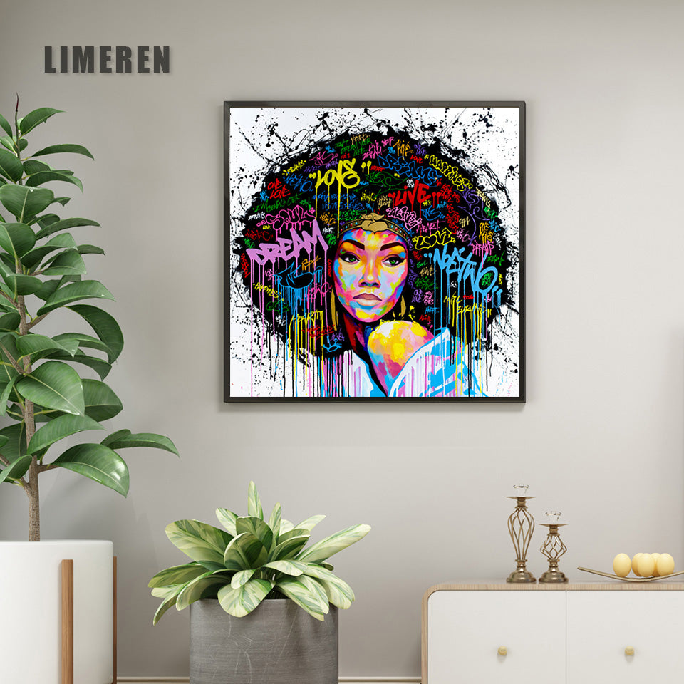 Abstract Modern African Women Canvas Painting