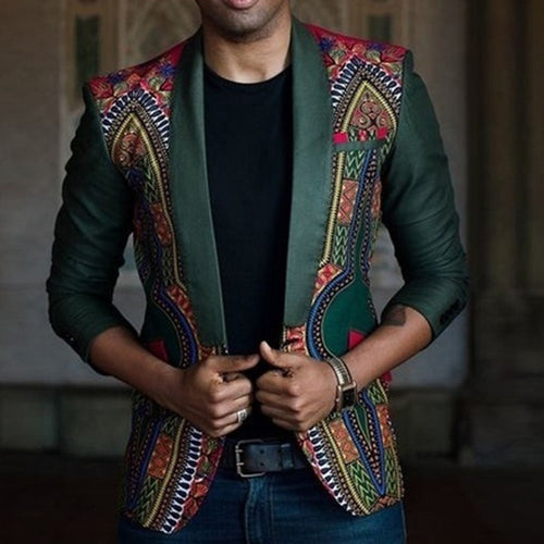 Men's Dashiki Cardigan Jacket