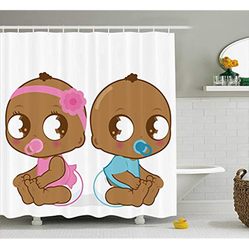 Cute Babies Shower Curtain