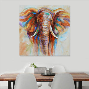 Modern Wall Art Canvas Elephant Colorful African Animal Oil Paintings Decor