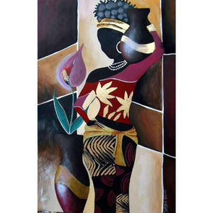 Abstract painting African woman Spanish art canvas oil paintings hand-painted