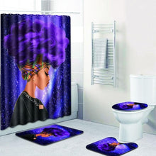 Load image into Gallery viewer, Afro Woman Shower Curtain Set (4 Varieties)