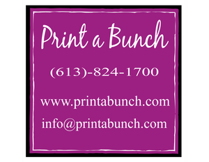 Print a Bunch florist prints your thought directly on flowers.  Orleans florists delivers from Rockland - Orleans - Ottawa - Kanata