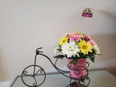 Bike arrangement Flower Arrangements, Flower, Florist, Print-a-Bunch Ottawa - Orleans Florist, Great for a Birthday and Anniversary