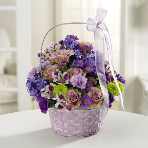 The Greeting Basket - $59 Flower Arrangements, Flower, Florist, Print-a-Bunch Ottawa - Orleans Florist, Great for a Birthday and Anniversary