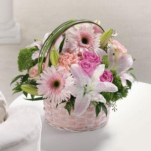 Basket Of Love - $60 Flower Arrangements, Flower, Florist, Print-a-Bunch Ottawa - Orleans Florist, Great for a Birthday and Anniversary